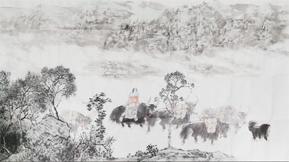 陈玉峰、崔俊恒、祁海峰、王利峰合作作画