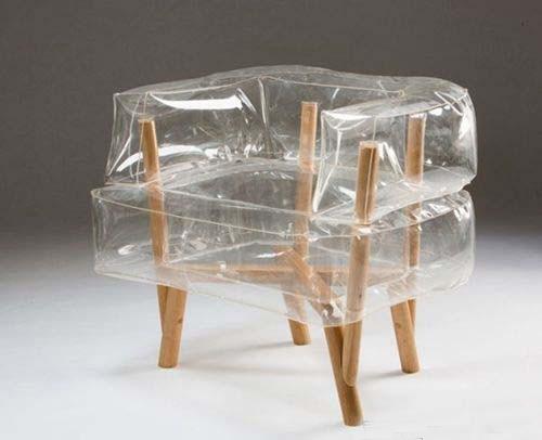 用气垫和木棍设计出创意椅子 灵感来自平板家具