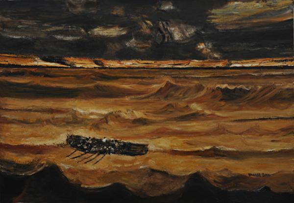 《八月黄河之二》 段正渠 160×230cm 2014