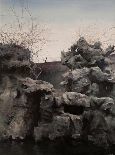 《独钓》 何军 200x150cm 2011