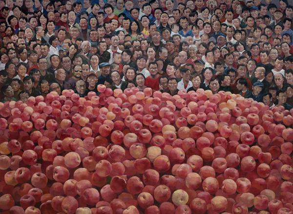 《苹果》 贺丹 250x200cm 2012