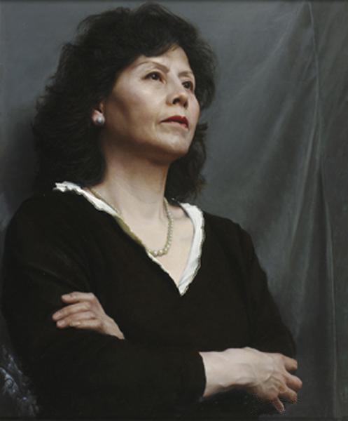 《黑衣夫人》 徐芒耀 61x50cm 2011