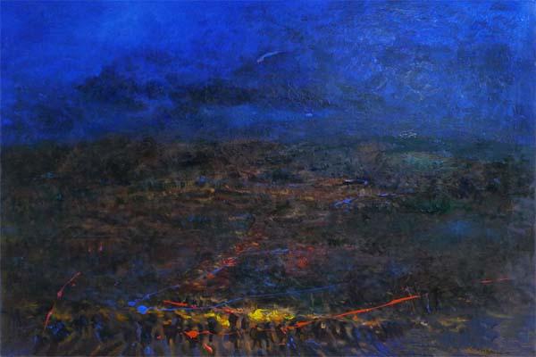 《大凉山系列之火把之夜》 120cmx100cm