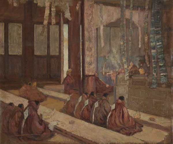 《梵音》 孙宗慰 56.5×27.5cm 1947年