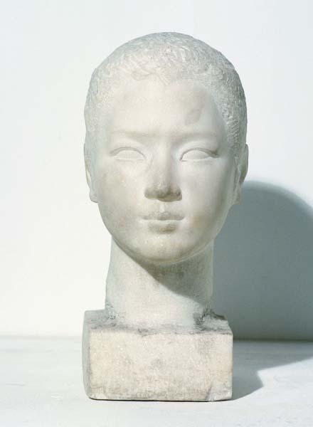 《女头像》 王朝闻 18×25×39cm 1951年