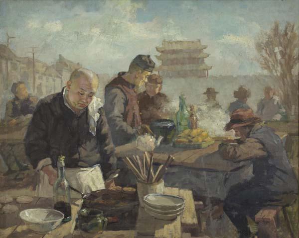 《平民食堂》 李宗津 63×80cm 1947年