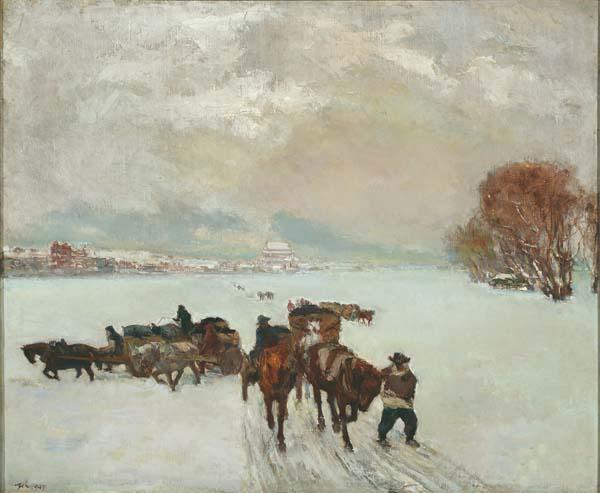 《雪里送炭》 艾中信 72×88cm 1947年