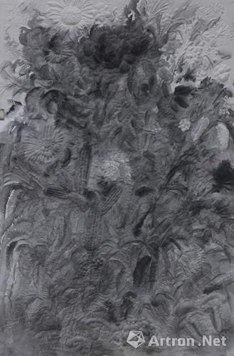 《花终于出现了》 邱志杰 180×120cm 2013年