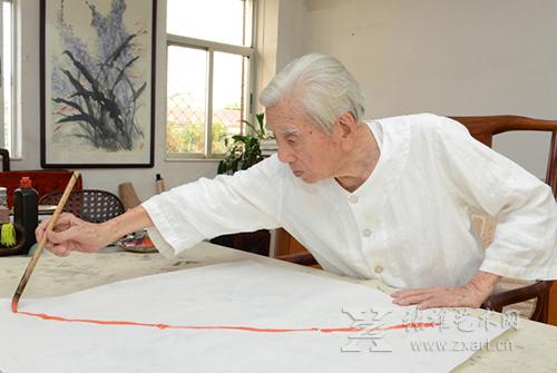 """当今画坛104岁高龄老画家:王兰若的""""九九变法"""""""