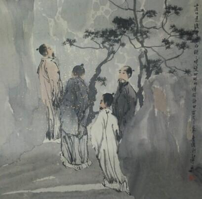 刘红沛 崖口悬流 67.5x67.5cm