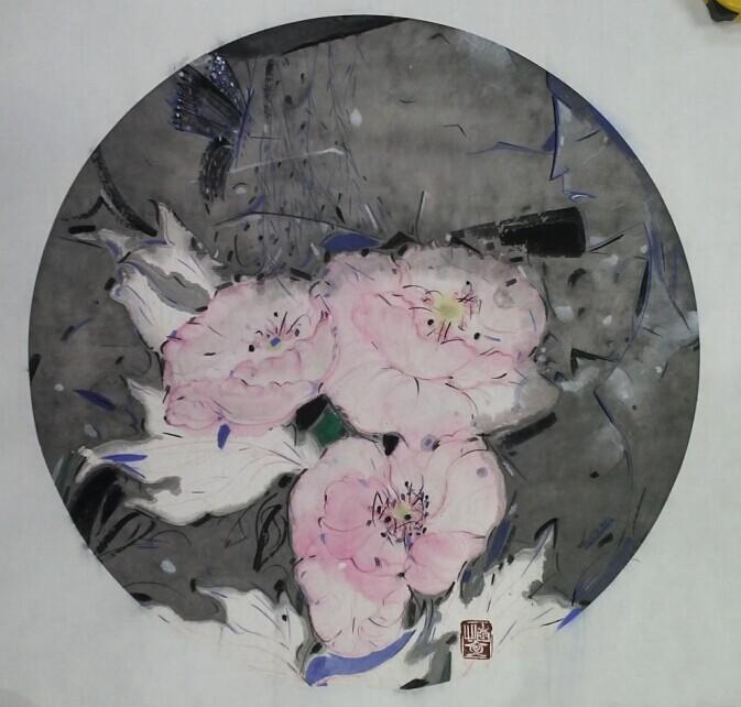 赵怡文谜花记50x50cm