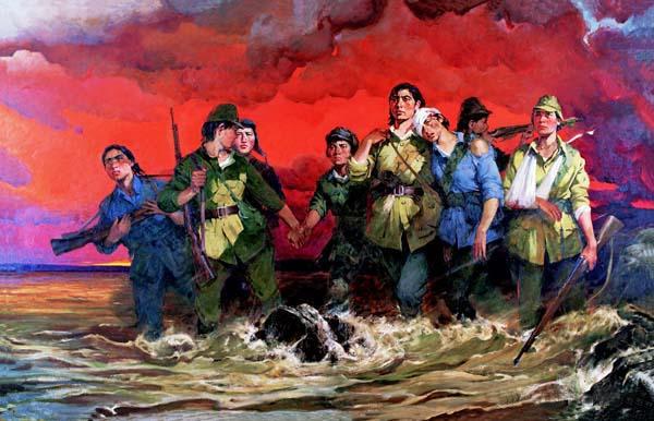 《中华儿女——八女投江》 全山石 192×300cm 1989