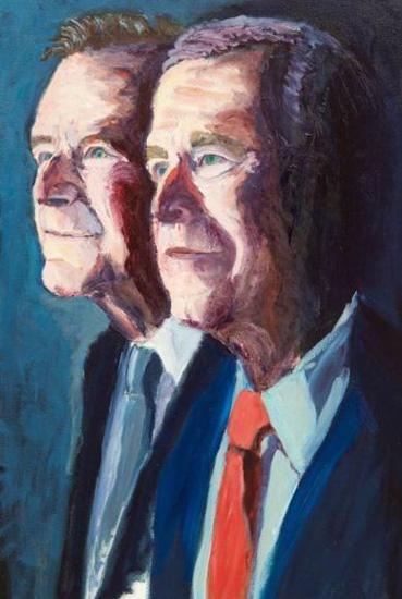 小布什为父亲老布什画像