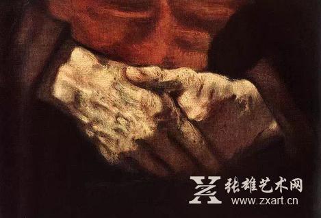 《红衣老人》沧桑的手