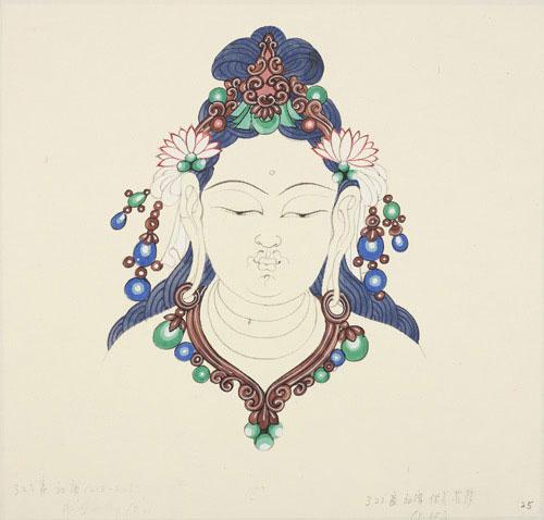 常沙娜继承衣钵,一生研究敦煌艺术为主要工作,从事敦煌壁画及传统装图片