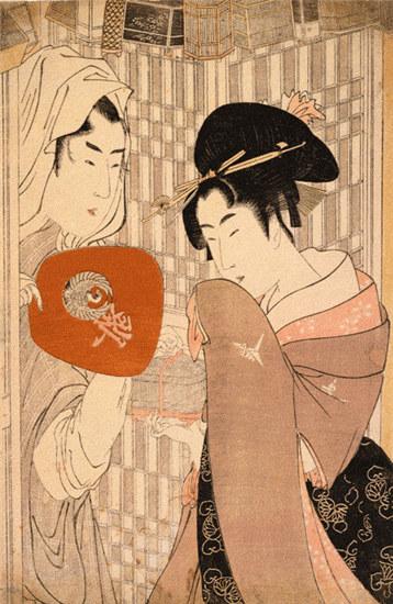 浮世绘画中的日本风情