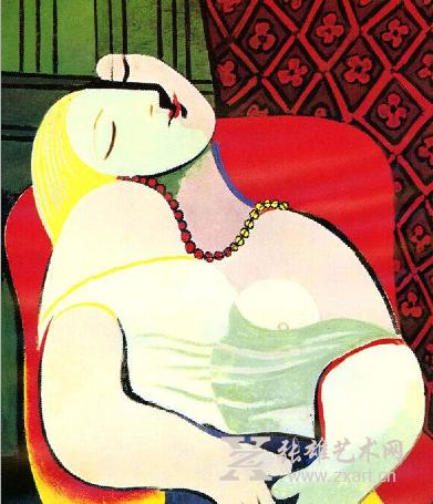 《梦》是毕加索立体主义时期的代表名作之一,不仅仅是他绘画生涯的