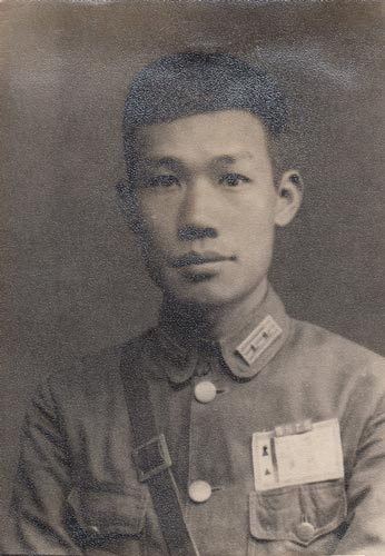 李桦40年代戎装照