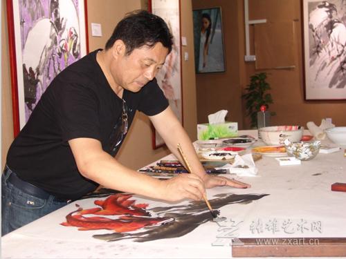 中国著名画家朱法鹏作品展暨朱法鹏收藏艺术馆开馆仪式4月11日在张雄书画院举办