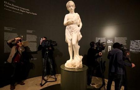 西班牙将展出米开朗基罗雕塑——《年轻的圣施洗约翰