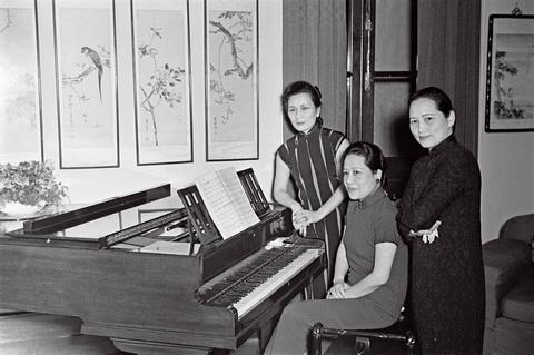 宋氏三姐妹 1940年在重庆图片