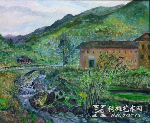"""叶碧峰""""绿色闽南风景写生专题""""油画展将于4月25日隆重"""