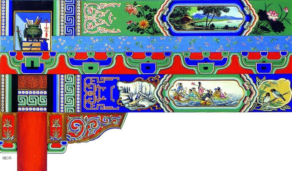 实用又美观:中国古建筑上的彩绘欣赏
