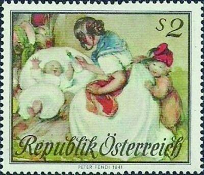 ④1967年奥地利发行的《母亲节》邮票