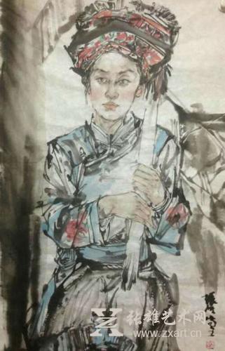 张波写意人物画