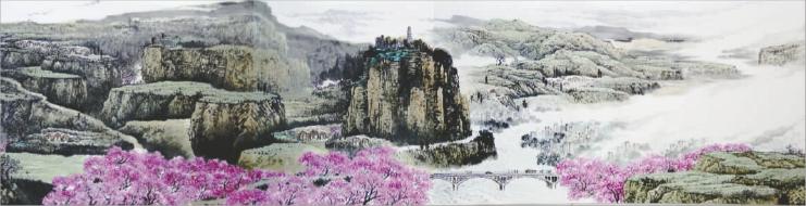 国画长卷《万里长征新画卷》在江西山水画名家新作展上首次对外公开图片