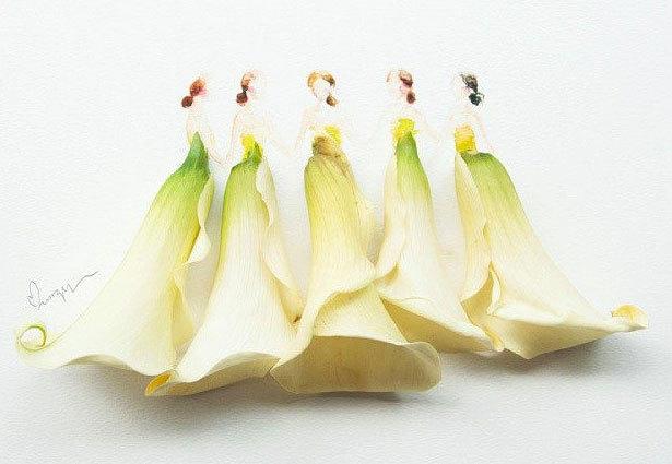马来西亚艺术家的创意花裙子(图)