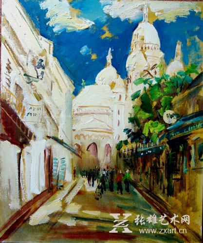 徐里油畫海外寫生系列作品《法國-蒙馬特高地》