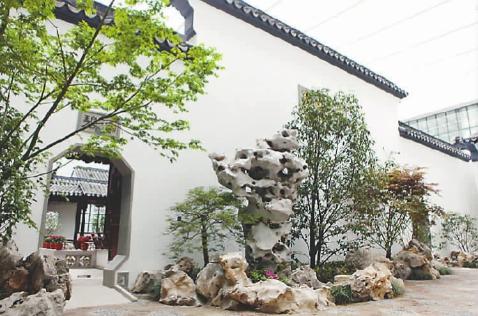 """中国园林博物馆室内园林造景""""苏州畅园"""""""