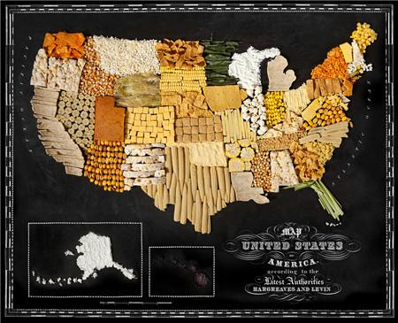 美食拼成世界地图