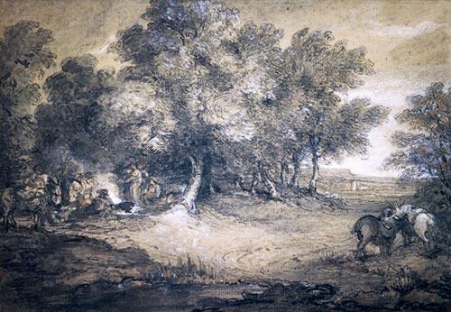 英国名家庚斯博罗森林风景画杰作亮相拍场