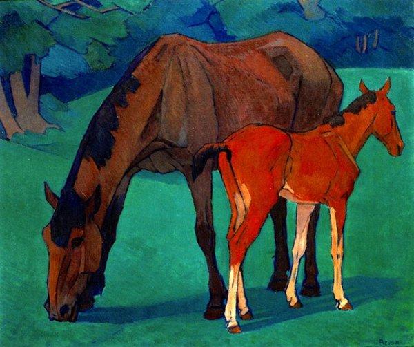 最童话的马:《母马与小马驹》