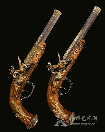 拿破仑赠予儿子的手枪拍出965000英镑
