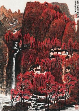 油画,版画,水彩画中的山水风景,也是画家表达思想和情感的重要载体.