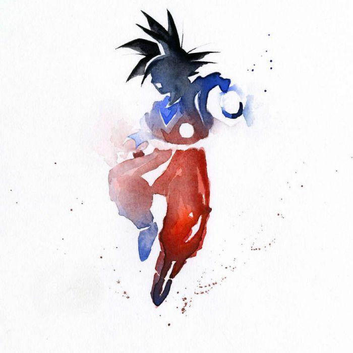 法国艺术家独创的水彩风格英雄画像欣赏