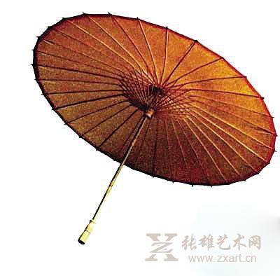 古典伞花纹手绘图