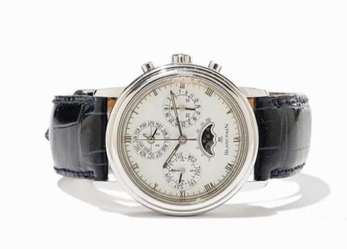 宝珀1993年万历年手表,起拍价为1万欧元