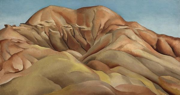 乔治亚·欧姬芙(Georgia O'Keeffe),《在通往老圣达菲的路上》(On the Old Santa Fe Road)