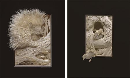 有温度的纸雕艺术_张雄艺术网