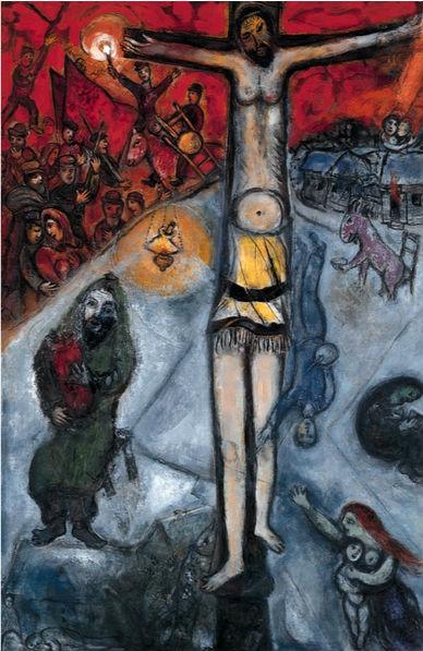 《黄色的耶稣被钉死在十字架上》-夏加尔 马蒂斯死后唯一理解色彩的