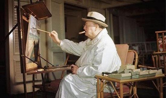 作画中的丘吉尔-政治死敌丘吉尔和希特勒的艺术对决