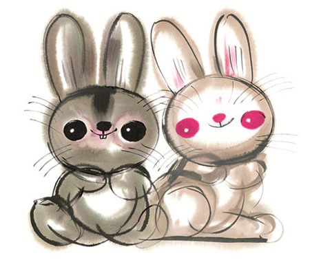 韩美林笔下天真烂漫的动物画作