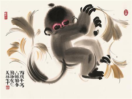 韩美林笔下憨态可掬的动物们