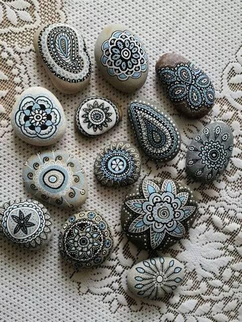 石头艺术 普通石头也能创作出美丽的画作
