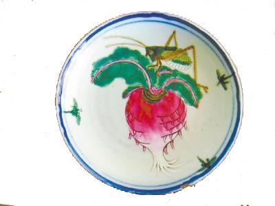 """""""田园风光萝卜鲜""""是一块民国年间的正方形绣片,长10."""