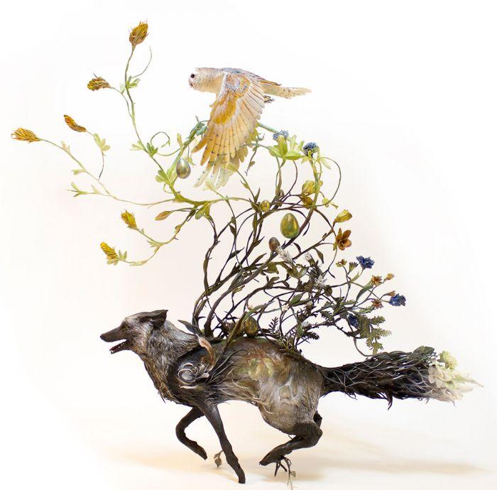 加拿大艺术家美丽而怪异的动物雕塑作品